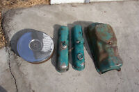 DODGE PLYMOUTH 318 VALVE COVERS OIL PAN AIR CLEANER