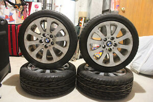 PRICE REDUCED-OEM BMW rims Style 159 On new Toyo proxes 4