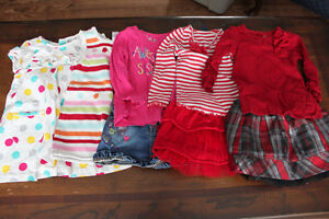Girls lot of Brand name clothes size 2T