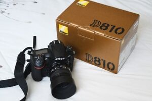 Nikon D810 body with original box and accessories