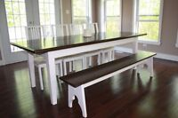 Large harvest dining table