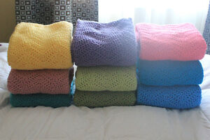 NEW Homemade Crocheted Baby Afghans