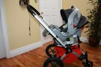 Bugaboo Frog stroller, car seat, p'tit coulou, etc.