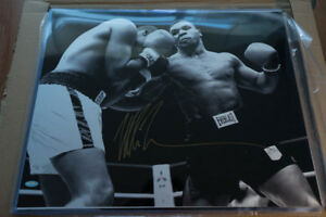 Mike Tyson signed 16x20 Steiner Sports
