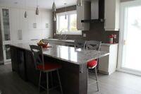 refacing, restauration et modification d'armoire de cuisine