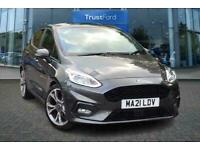 2021 Ford Fiesta 1.0 EcoBoost Hybrid mHEV 125 ST-Line X Edition **With Half Leat