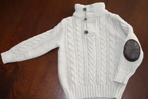Baby GAP Oatmeal Colour Cable Knit Sweater