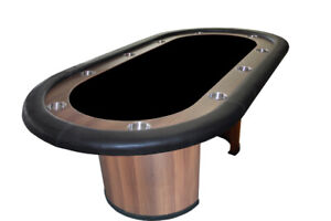 Poker table 84 inches supreme with wooden legs
