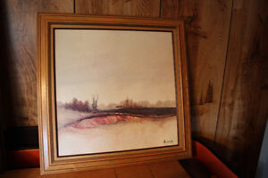 """Print by Ackerman & Frame, 27"""" x 27"""" in excellent condition"""