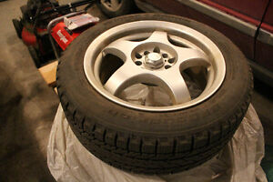 Winter Tires on Alloy Rims: 205/55R16 91S