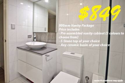 Bathroom Stone top Vanity Clearance sale 600mm - 1800mm Osborne Park Stirling Area Preview