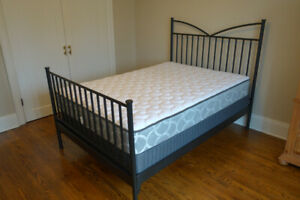 Double Bed  With Mattress & Box Spring