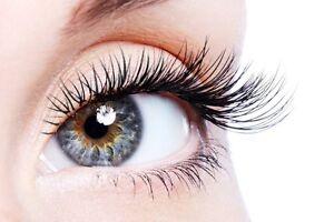 Eyelashes extension $60 for full set $5 for eyebrows threading Cambridge Kitchener Area image 2