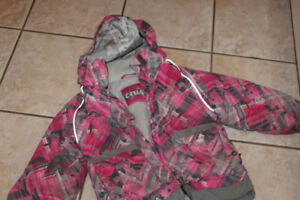 size 4 Crush warm winter coat removable hood interior pockets