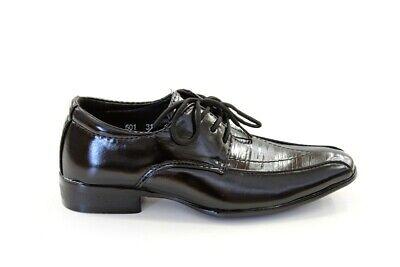 lanz Festliche Kommunion Jungen Schwarz Hochzeit NEU (#501) (Kommunion Schuhe)
