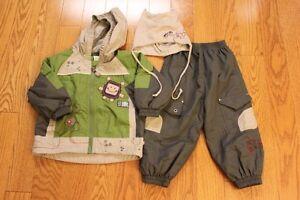 2T Gagou Tagou Splash Pants,Jacket (both lined) and hat