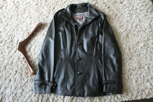 DANIER BlACK LEATHER COAT