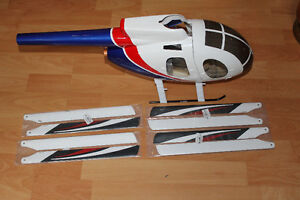 Align 450 size Hughes 500 Scale Fuselage for RC helicopter