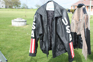 2 Vintage Leather motorcyle Jackets