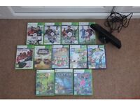 12 XBOX360 games with Kinect bar