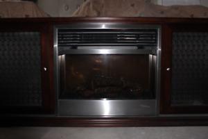 Foyer électrique avec meuble télé