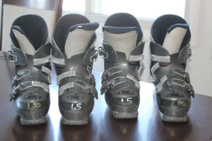 Assorted Kids Ski Boots and Skates