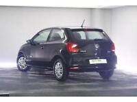 2015 Volkswagen Polo 1.0 S (60 PS) BMT Petrol black Manual