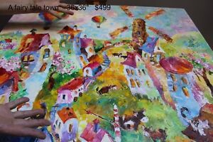 FUNKY FAIRY TALE TOWN painting