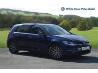 2017 Volkswagen Golf SE Nav 1.4 TSI 125PS 6-speed Manual 5 Door Petrol blue Manu