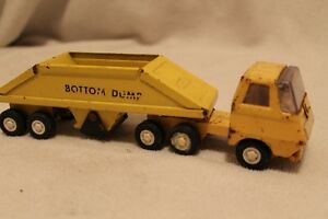 Tonka truck w/ bottom dump trailer