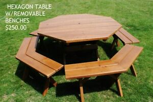 BRAND NEW!  Wooden Adirondack Chairs & Picnic Tables