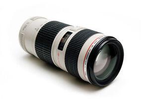 Canon EF 70 - 200 f/4 L series lens - MINT