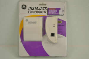 GE InstaJack Wireless Phoneline System Adapter Base & Extension