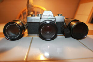 Minolta ST200 35mm Film Camera with 3 Lenses