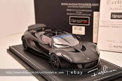 Autoart 1 18 Hennessey Venom Gt Black