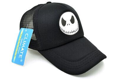 Jack Skellington Face Snapback Hat Trucker Mesh Cap Nightmare Before Christmas