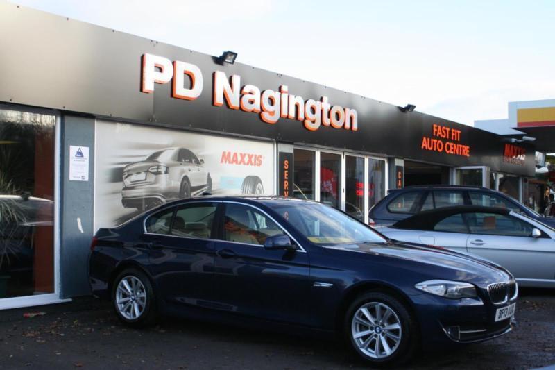 2013 BMW 5 SERIES 520d SE SAT NAV BLUETOOTH FULL BEIGE LEATHER 1 OWNER