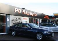 2013 BMW 5 SERIES 520d SE SAT NAV BLUETOOTH FULL BEIGE LEATHER 1 OWNER