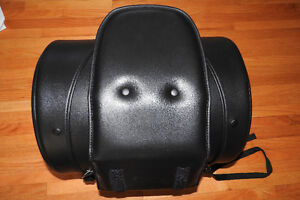 New 30 Liter Leather Saddle Bag back rest by The Cruiser Bag Co.