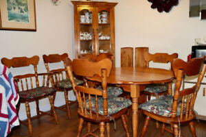 Dining Rm Set and Cabinet - $550.
