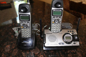 Panasonic cordless phones with answering machine.