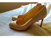 Christian Louboutin (Genuine) FiFi Patent, Nude, Size 39 or UK 51/2