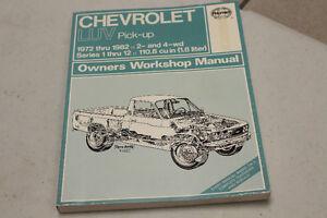 1972-1982 CHEVROLET LUV PICK-UP OWNER'S WORKSHOP MANUAL