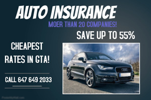 SAVE ON YOUR AUTO INSURANCE! UPTO 55%