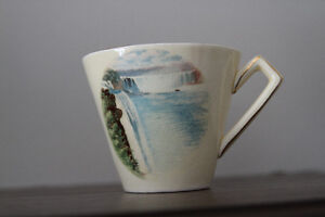 Vintage Cup and Saucer – Royal Winton souvenir of Niagara Falls London Ontario image 2