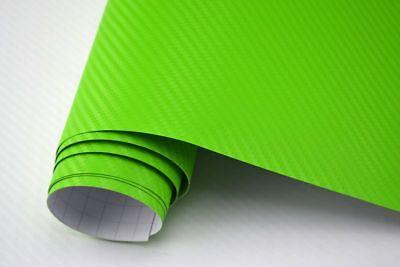 5,64€/m²  3D Carbon Folie grün blasenfrei 500 x 152cm Klebefolie Carbon Optik