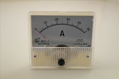 Analog Amp Panel Meter Gauge Dc 0-50a 85c1-a Qc