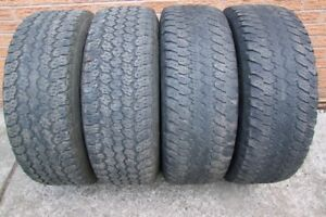 4-265/70R17 M+S GOODYEAR WRANGLERS CAN SELL IN PAIRS