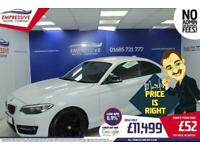2014 14 BMW 2 SERIES 2.0 218D SPORT 2D 141 BHP DIESEL