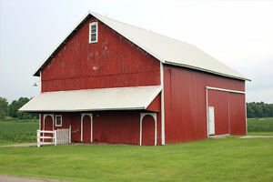 I'm looking for a big barn or building with power hooked up